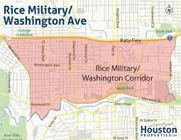 Washington Park Map by Rice Military Houston Map Rice Military Area Neighborhood Maps