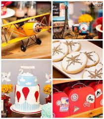Around The World Themed Kara S Ideas Air Balloon Around The World Themed