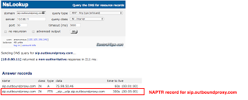 Dns Lookup How A Domain by Web Ui Portal To Check Sip Dns Srv Records