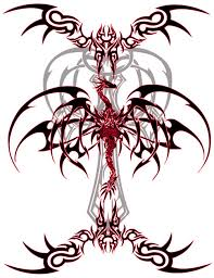 and black tribal dragons free design ideas dr flash