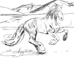 coloring coloring pages of horses running