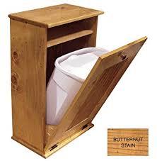 wooden bin tilt out wooden waste bin butternut stain home