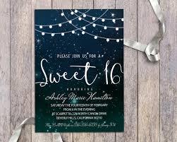 Sweet 16 Invitations Cards Sweet 16 Birthday Party Digital Invitation Printable String