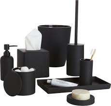 Modern Bathroom Accessories Sets Span Class Copyheader Noir Side Of Neat Span Tactile