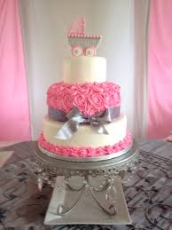 girl baby shower cakes girl baby shower 4 pink cake with baby stroller founterior