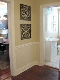 Chair Rail Ideas For Dining Room Two Tone Wall With Chair Rail And Dark Hardwood Dining Room