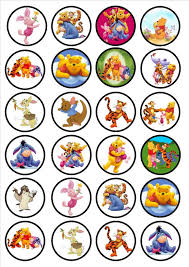 winnie the pooh edible premium wafer paper cupcake toppers