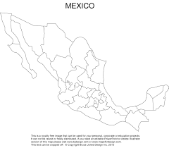 Mexico Political Map by Mexico Map Royalty Free Clipart Jpg