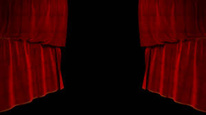 Theater Drop Curtain Drop Curtain From Side To Side With Alpha Channel Stock Footage