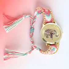 pink bracelet watches images Elephant friendship bracelet watch by junk jewels jpg