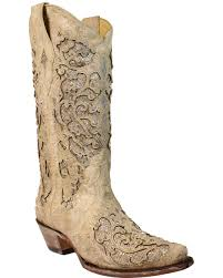 womens quill boots s tooled inlay boots boot barn