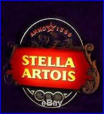 light up beer signs rare large vintage stella artois light up beer sign neon effects
