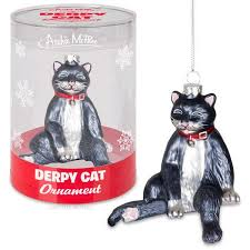 derpy cat ornament archie mcphee co