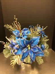 blue and silver custom floral by andrea for michaels round rock
