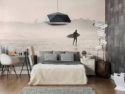 4 looks using summer inspired wall art for your home during winter early morning surf wall mural