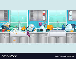 how to clean soiled kitchen cabinets and clean kitchen background royalty free vector image