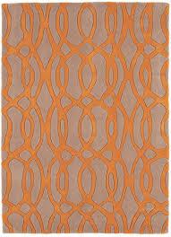 Orange Modern Rug by Grey And Orange Rug Roselawnlutheran