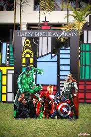 Superhero Photo Booth Kara U0027s Party Ideas Avengers Birthday Party Kara U0027s Party Ideas