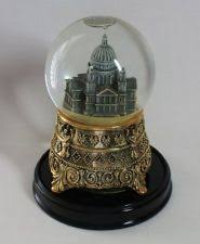 kinkade white musical snow globe