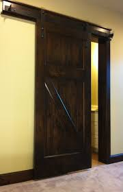dark wood interior barn door for home single decofurnish