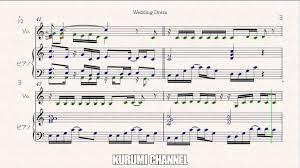 wedding dress piano sheet wedding dress 2 piano sheet tvxq dbsk 東方神起