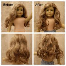 Wash Hair Before Color - dolly hair salon first time washing doll hair before and after