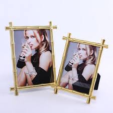 aliexpress com buy bamboo joint alloy metal photo frame picture