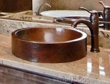 Hammered Copper Bathroom Sink Copper Bathroom Sink Ebay