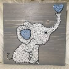 elephant string art elephant string art wall hanging nursery