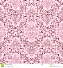seamless damask wallpaper in shades of pink stock images image