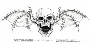 avenged sevenfold deathbat outline tattoo pictures to pin on