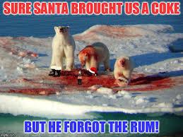 Memes Coca Cola - those coca cola polar bears take their rum and coke very seriously
