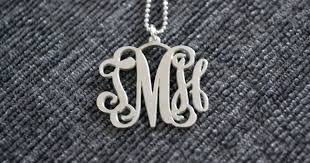 My Monogram Necklace Tania Tells A Closer Look My Monogram Necklace
