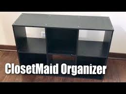 Closetmaid Cubeicals Instructions Closetmaid 1574 Cubeicals Black 6 Cube Organizer Setup And Review