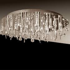 Crystal Ceiling Mount Light Fixture by Brizzo Lighting Stores 18