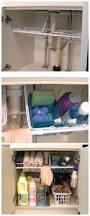organize bathroom sink cabinet clever kitchen organization ideas