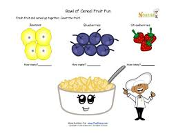 cereal and fruit math fun for children learning to count