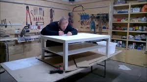 Wohnzimmertisch Diy Ikea Tisch Tuning Youtube