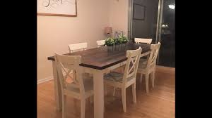 How To Build A Dining Room Table by The Easiest Way To Build A Farmhouse Table Diy Youtube