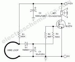 wire break sensor alarm circuit schematic