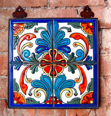 kitchen backsplash hand painted mexican tiles mexican hand