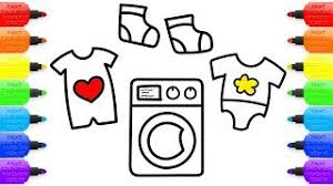 Washing Machine Coloring Page - paint colouring pages for kids tv viyoutube com
