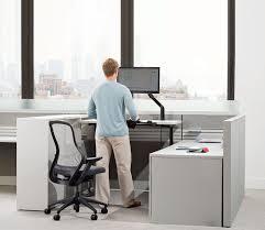 Knoll Reff Reception Desk Universal Height Adjustable Table Arenson Office Furnishings