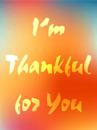 i m thankful for you happy thanksgiving card birthday