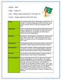 4mat lesson plan examples