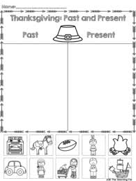 thanksgiving then and now printable sort science and social