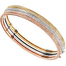 bangle bracelet diamond images 1 3 ct tw stackable diamond bangle bracelet white gold rose gold