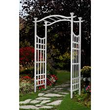 lowe u0027s garden arch 50 new england semi gloss white arbor 53