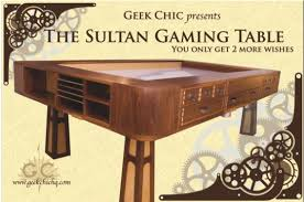 geek chic gaming table 10 000 will get you a lot of d d the sultan gaming table ars
