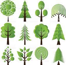 retro tree designs stock vector 165628014 istock